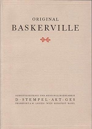 Original Baskerville-Antiqua. Mager Halbfett Kursiv Licht.: Schriftgießerei und Messinglinienfabrik