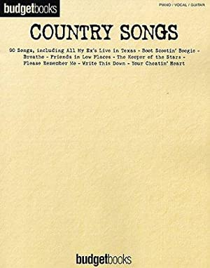 Country Songs. Piano / Vocal / Guitar. Budgetbooks.