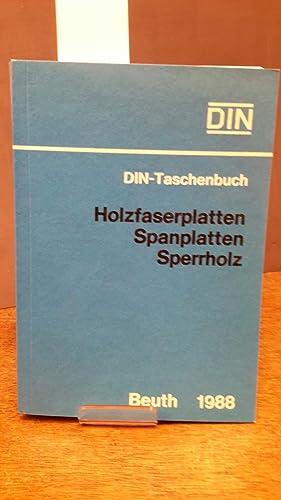 Holzfaserplatten, Spanplatten, Sperrholz. Normen, Richtlinien. Hrsg.: DIN,