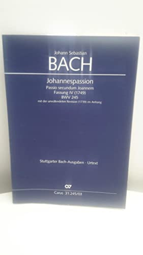 Johannespassion Passio secundum Joannem Fassung IV (1749): Horn, Paul, Johann