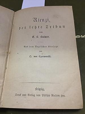 Rienzi, der letzte Tribun Aus dem Engl.: Bulwer Eduard Lytton: