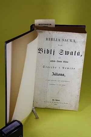 Biblia Sacra, To gest: Biblj Swatá, aneb wsseda Swatá Pisma - Starého i Row&...