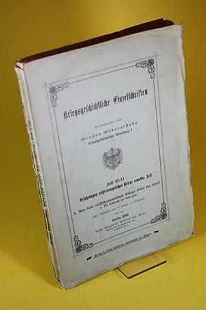 Kriegsgeschichtliche Einzelschriften (Heft 43/44) - Erfahrungen aussereuropäischer Kriege...