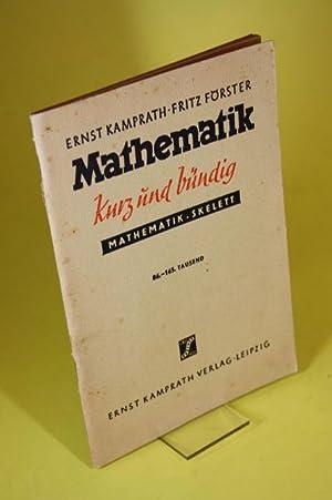 Mathematik kurz und bündig - Mathematik-Skelett. Geometrie,: Kamprath, Ernst und