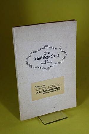 Die fränkische Lene - Ein soziales Zeit- und Lebensbild aus Oberfranken: Sachse, Paul
