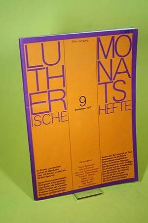 Lutherische Monatshefte (Nr. 9 /1972/ Elfter Jahrgang): Beckmann, Heinz und