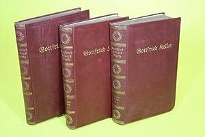 Gottfried Kellers Werke - Der grüne Heinrich Bd. 1-4 (in 3 Büchern): Keller, Gottfried / ...