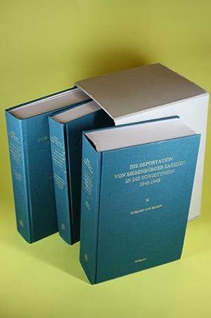Die Deportation von Siebenbürger Sachsen in die Sowjetunion 1945 - 1949 (3 Bände im ...