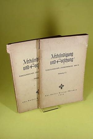 Verkündigung und Forschung (2 Bände) - Theologischer Jahresbericht 1942/46 (...