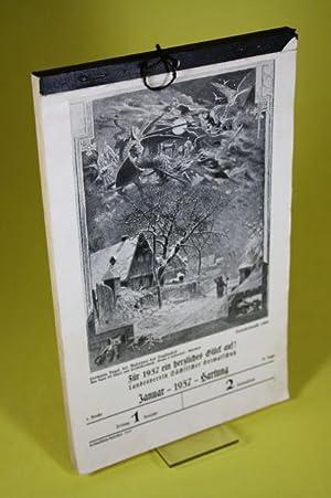 Sächsischer Heimatschutz-Kalender 1937: Landesverein Sächsischer Heimatschutz (Hrsg.)
