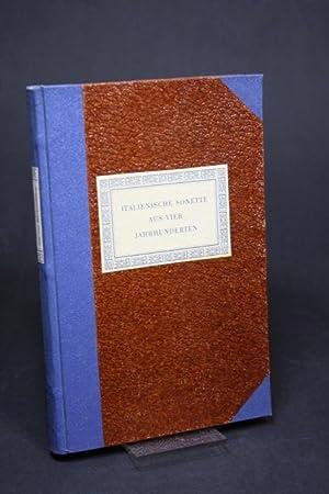 Italienische Sonette aus vier Jahrhunderten: Lanckoronski, Maria und Lanckoronski, Leo