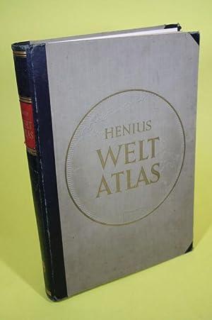 Henius Weltatlas - 100 Haupt- und über 100 Nebenkarten in vielfarbigem Kartendruck: Muris, Dr....
