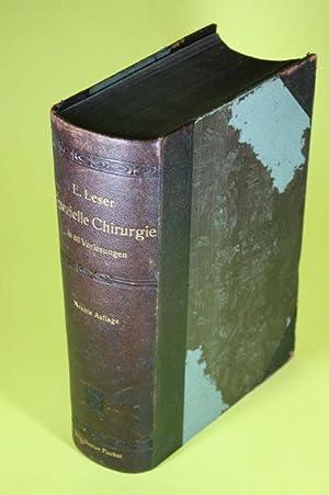 Die spezielle Chirurgie in 60 Vorlesungen - Lehrbuch der Chirurgie (Teil II.). Kurzgefasstes ...