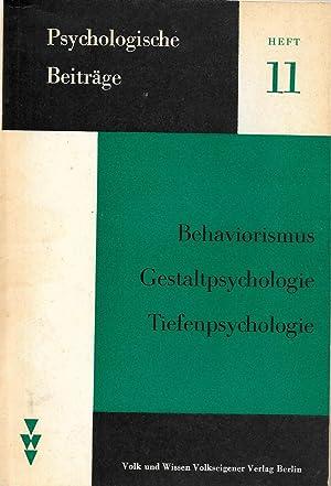 Behaviorismus, Gestaltpsycholpgie, Tiefenpsychologie: L.I.Anzyferowa, N.S.Mansurow