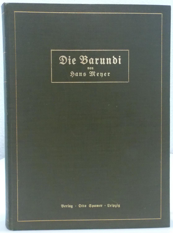 06.1916  Dr. Hans Meyer<br><b>Die Barundi</b>