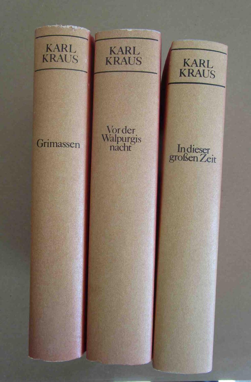 1. Grimassen Auswahl 1902-14 2. In dieser: Kraus, Karl.