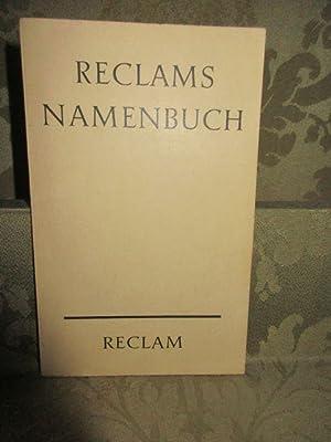 Reclams Namenbuch. Die wichtigsten deutschen und fremden: Herrle, Theo (Hrsg.)