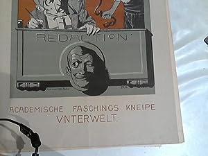 Kneip-Zeitung. Academische Faschings Kneipe Unterwelt. beiliegend: Maskirte-Herren-Kneipe: Eisele, Hans und