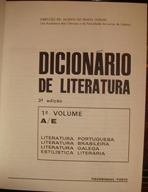 Dicionário de literatura; Literatura Portuguesa, Literatura Brasileira, Literatura Galega, ...