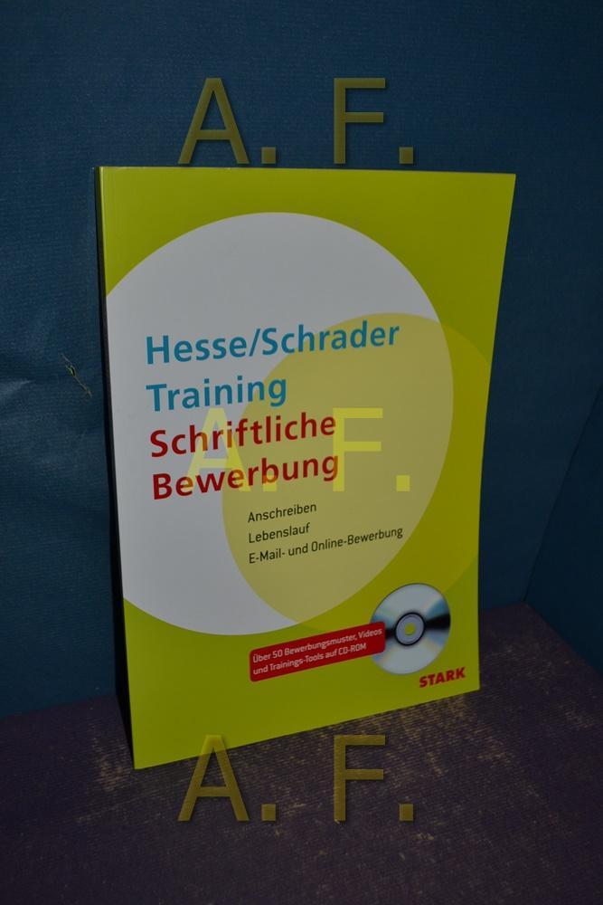 Hesse-Schrader-Training schriftliche Bewerbung : Anschreiben ...