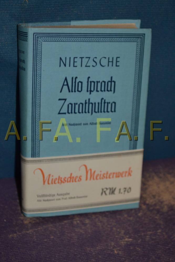 Also Sprach Zarathustra, ein Buch für alle: Nietzsche, Friedrich: