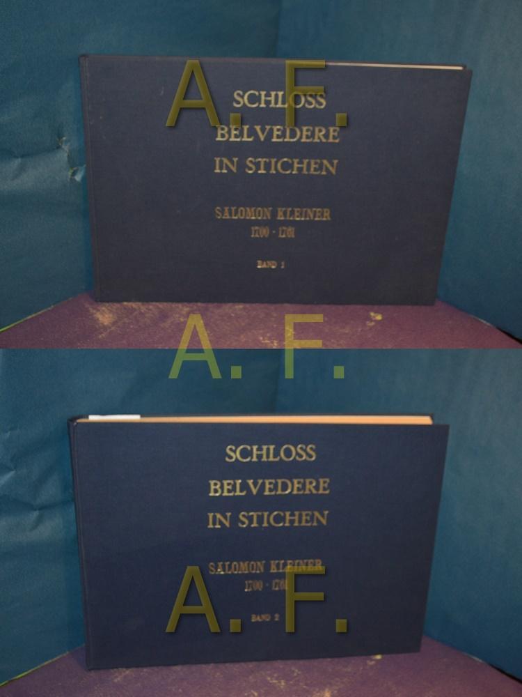 Band 2,1. ( Textband)Das Belvedere in Wien: Salomon, Kleiner und