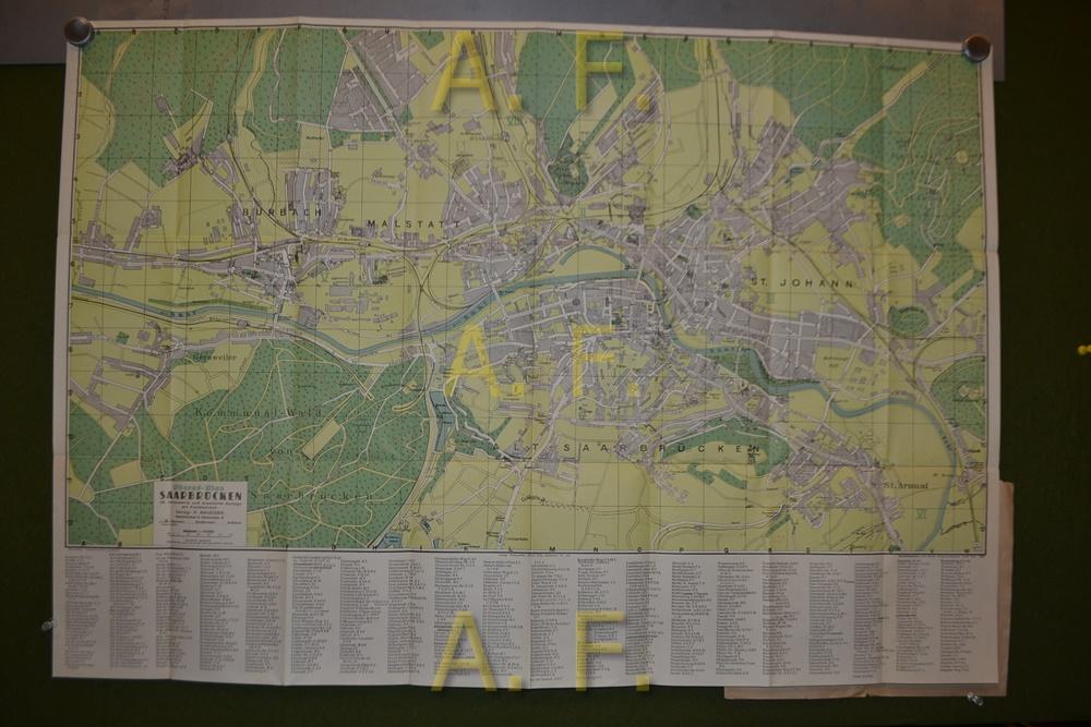 Pharus Plan Saarbrücken 1 10000 Ca 88 X 61 Cm Berlin