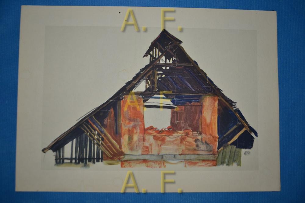 Alter Ziegelschuppen. 1913. Bleistift und Aquarell. //: Schiele, Egon: