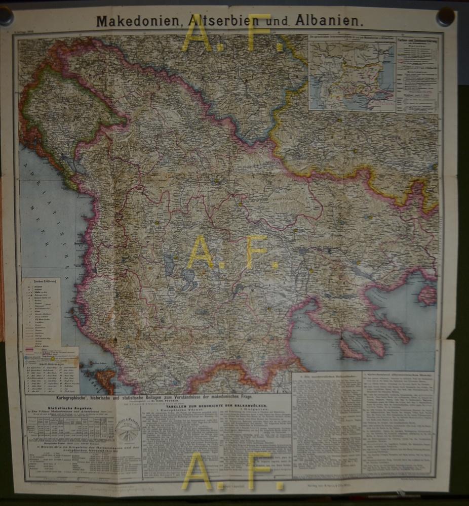 Karte Albanien.Karte Von Makedonien Altserbien Und