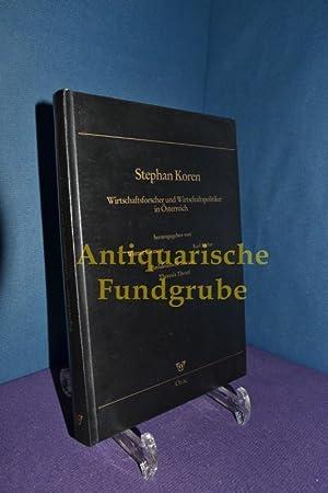Stephan Koren 1919-1988: Wirtschaftsforscher und Wirtschaftspolitiker in: Clement, Werner und