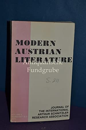 Modern Austrian Literature. Journal of the International