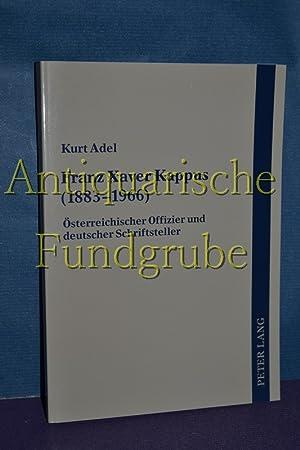 Franz Xaver Kappus (1883 - 1966) : österreichischer Offizier und deutscher Schriftsteller.: ...