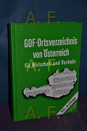 Gof-Ortsverzeichnis von Österreich für Wirtschaft und Verkehr