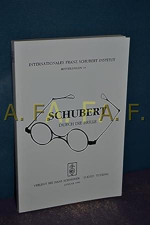 Internationales Franz-Schubert-Institut, Mitteilungen 14: Schubert durch die