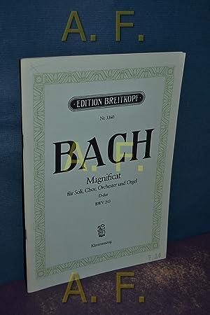 Magnificat für Soli, Chor, Orchester und Orgel: Bach, Johann Sebastian: