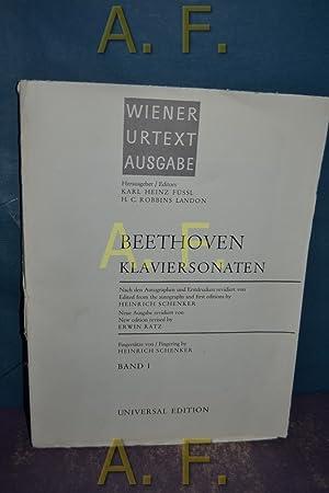 Beethoven Klaviersonaten, Band 1. Wiener Urtext Ausgabe.: Füssl, Karl Heinz