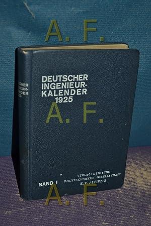 Deutscher Ingenieur Kalender 1.Teil / Uhlands, Technsiche: Berck, C. E.
