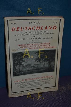 Katalog 1921, 485 - Deutschland : Geschichte,