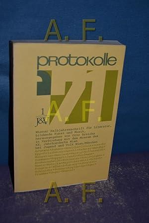 Protokolle 71 (1.Wiener Halbjahresschrift für Literatur, bildende