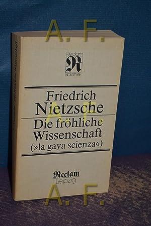 """Die fröhliche Wissenschaft = (""""La gaya scienza"""").: Nietzsche, Friedrich:"""