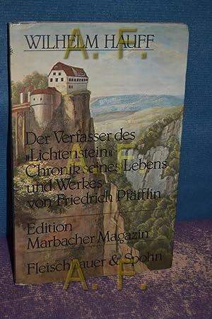 """Wilhelm Hauff : der Verfasser des """"Lichtenstein"""": Pfäfflin, Friedrich:"""