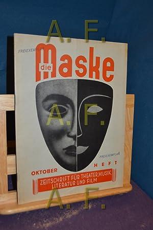 Die Maske, Zeitschrift für Theater Musik, Literatur: Gstettner, Richard [Herausgeber]: