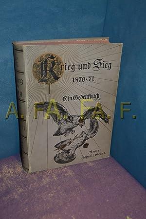 Krieg und Sieg 1870-71. Ein Gedenkbuch: Pflugk-Barttung, Julius von