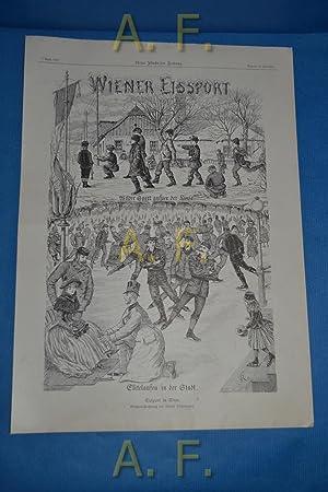 Eissport in Wien. Original-Zeichnung von Rudolf Röhringer.
