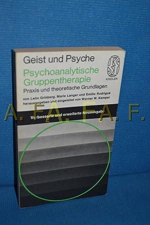Psychoanalitische Gruppentherapie : Praxis und theoretische Grundlagen: Grinberg, León, Marie