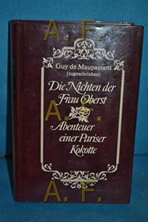 Die Nichten der Frau Oberst Guy de: de Maupassant, Guy: