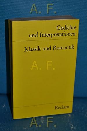 Gedichte Interpretationen Klassik Romantik Abebooks