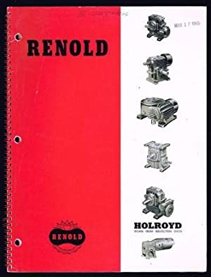 Holroyd Trade Catalog; Worm Gear Reduction Units: HOLROYD, John &