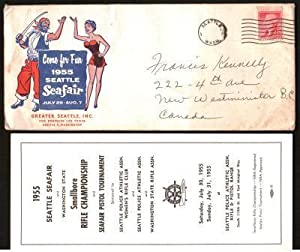 Seattle Seafair 1955 Envelope and Enclosures for: SEATTLE SEAFAIR