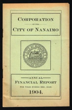 Corporation of the City of Nanaimo: Annual Financial Report.1904